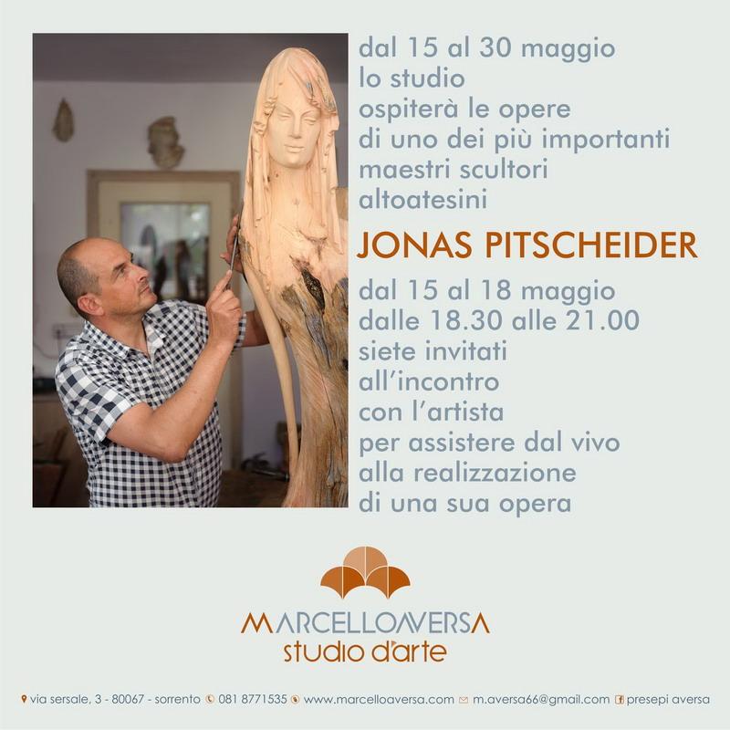 Dal 15 al 30 maggio lo Studio d'arte Marcello Aversa ospiterà le opere di uno dei più importanti maestri scultori altoatesini: JONAS PITSCHEIDER